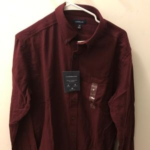 Cristy and barrow maroon flannel
